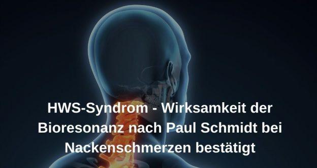 HWS-Syndrom und Bioresonanz nach Paul Schmidt